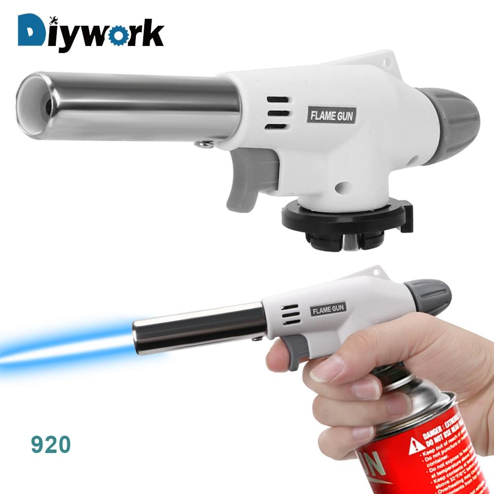 DIYWORK 504C/915/2014 Metal Gun Torch  Butane Gas Welding Torch Welding Gas Ignition Lighter Portable Flame Gun For Camping