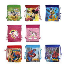 цены на Christmas Gift Bag Cartoon School Backpack for Boy,Girl Unicorn Drawstring Bag Student book bag Kids School Bag в интернет-магазинах