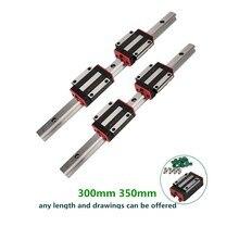 CNC Set 25-1500mm 2x Linear Guideway Rail 4x Square type carriage bearing block