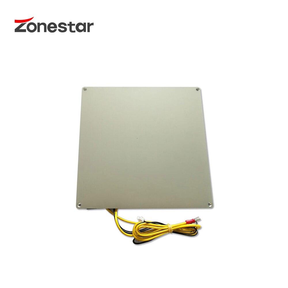 ZONESTAR Aluminium Base Heatbed Print Platform MK3 12V RepRap 3D Printer Hotbed 220*220 150*150 310*310 3mm Thickness With Cable