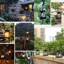 Solar Powered LED Lantern Outdoor Waterproof Garden Hanging  Light with Clip for Garden Decoration Lawn Lamp Landscape Lamp D30