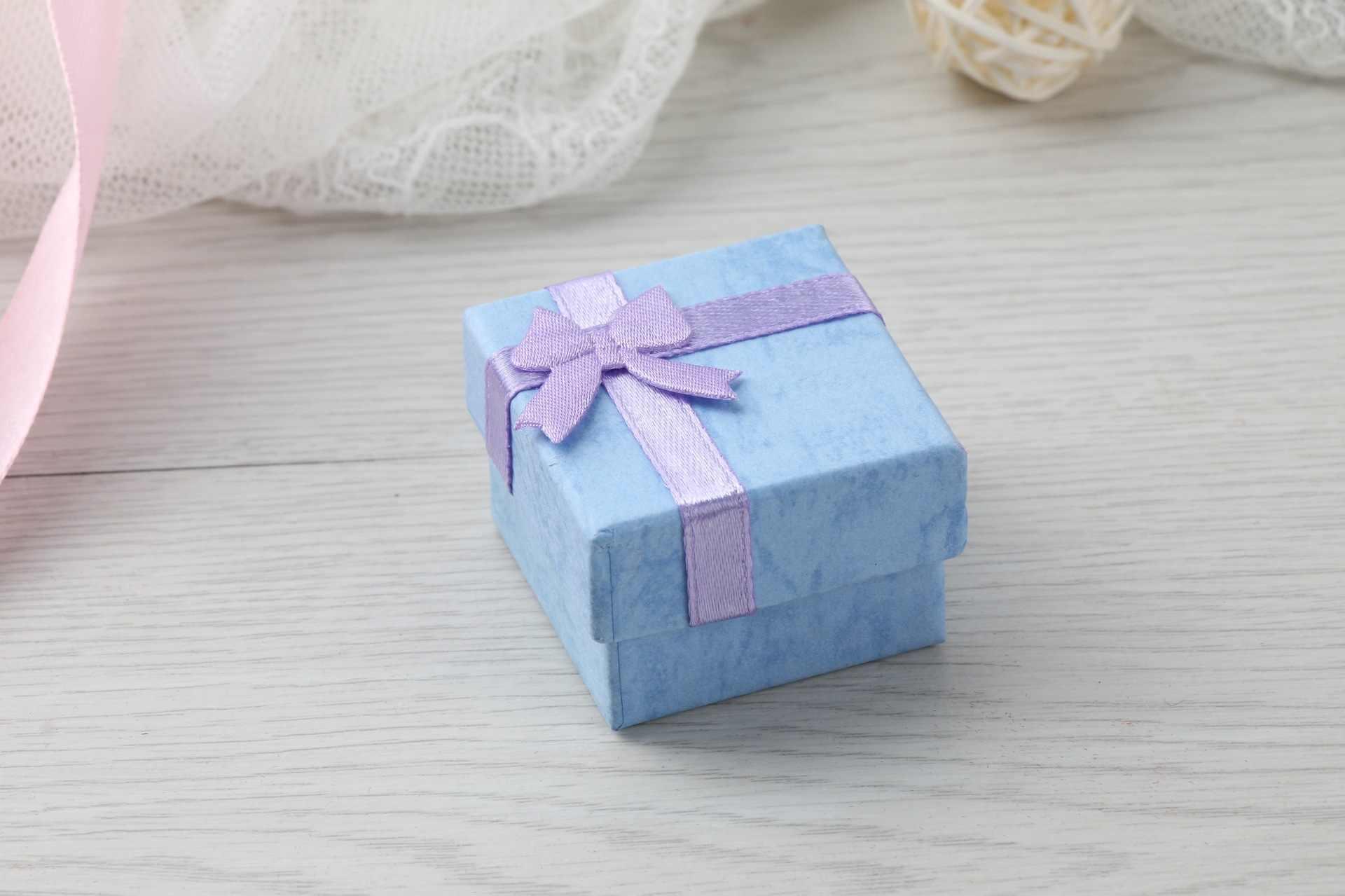 2 Pcs Kalung Anting-Anting Cincin Kemasan Perhiasan Kotak Hadiah Kertas Aksesoris Kertas Kemasan Tas untuk Hadiah Cajas De Regalo