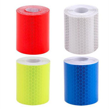 5cmx3m Reflective Material Safety Warning Multicolor Tape Film Sticker Car Truck Motorcycle Riding Protective Reflective Type