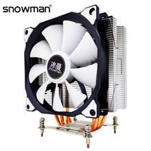 Снеговик 4 теплотрубки Процессор кулер RGB 120 мм ШИМ 4Pin PC тихий для Intel LGA 2011 1150 1151 1155 1366 AMD AM4 AM3 Процессор Вентилятор охлаждения