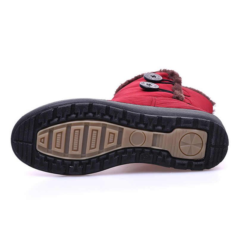 Chống Trơn Trượt Ủng 2019 Mới Giày Bốt Nữ Sang Trọng Ấm Mắt Cá Chân Giày Cho Nữ Mùa Đông Giày Chống Nước Mẹ Giày phụ Nữ Boot