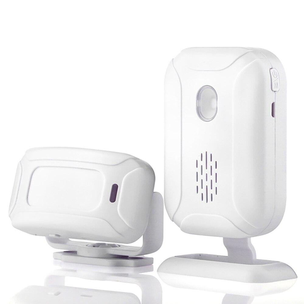 Wireless Welcome Alarm Doorbell IR Store Shop Entry Motion Sensor Infrared Detector Induction Door Bell 5 Functions Night Light