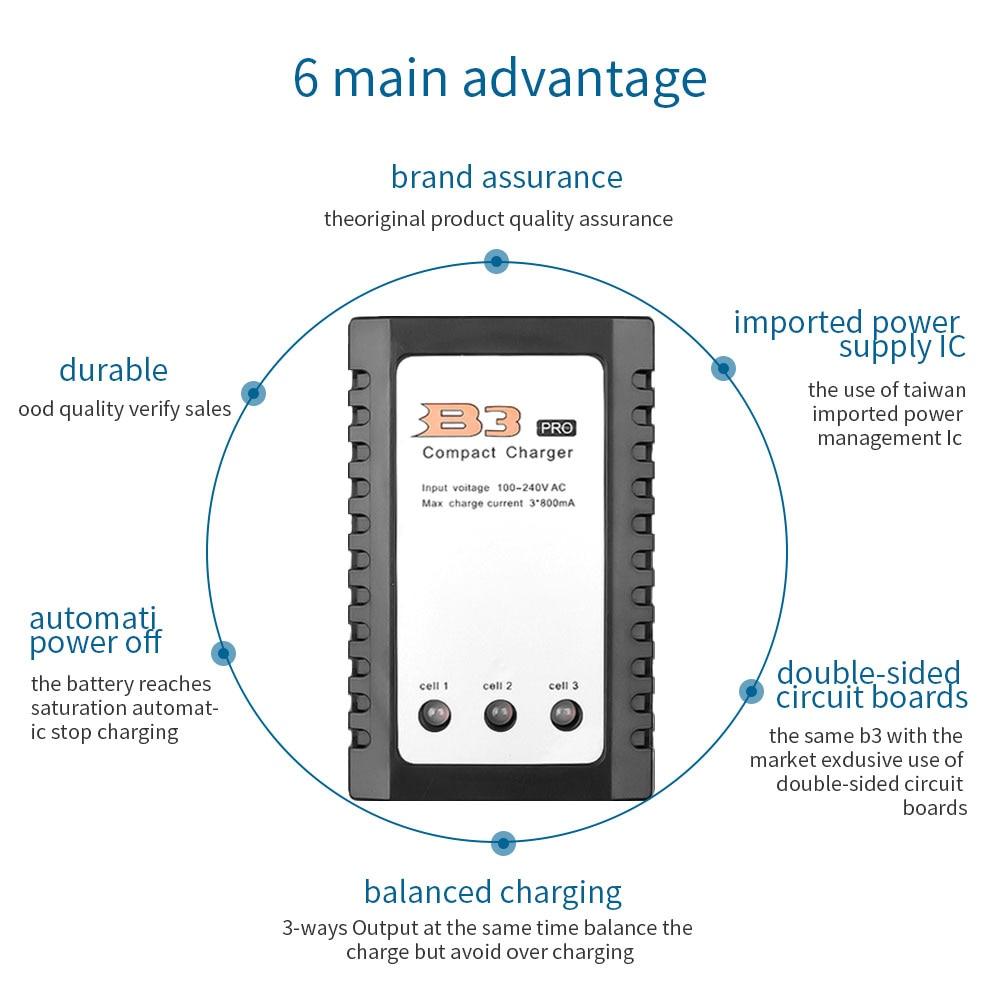 Snelle Lading Imax Rc B3 Pro Compact Balans Lader Voor 2S 3S 7.4V 11.1V Lithium Lipo batterij Eu/Us Plug Evenwichtige Laders 6