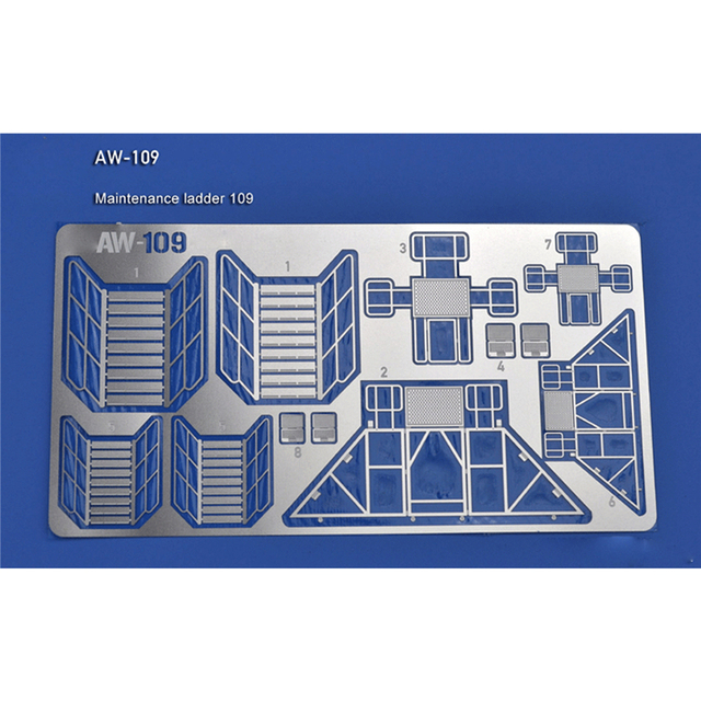 Photo Etch Maintenance Ladder Guardrail Etching Parts for Gundam Maintenance Ladder Photo etched Sheets AW109 AW110