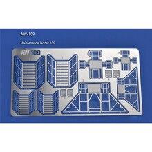 Photo Etch entretien échelle garde corps pièces de gravure pour Gundam entretien échelle feuilles photo gravées AW109 AW110