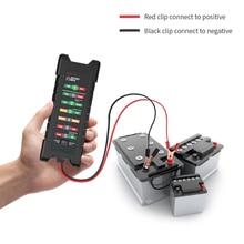 12V 24V Auto Batterie Tester mit 6 Led leuchten Intelligente Mäher Detektor Diagnose Batterie Kapazität Checker Diagnose Werkzeug