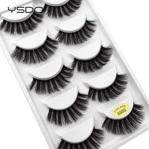 Image 4 - YSDO lashes 5 pairs mink eyelashes natural long 3d mink lashes hand made false eyelashes dramatic eyelashes makeup fake lashes