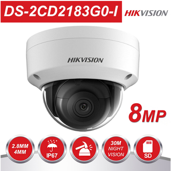 Hikvision poe outdoor infrared 8mp  camera WDR home protection system DS-2CD2183G0-I cctv video surveillance security ip camera цена 2017