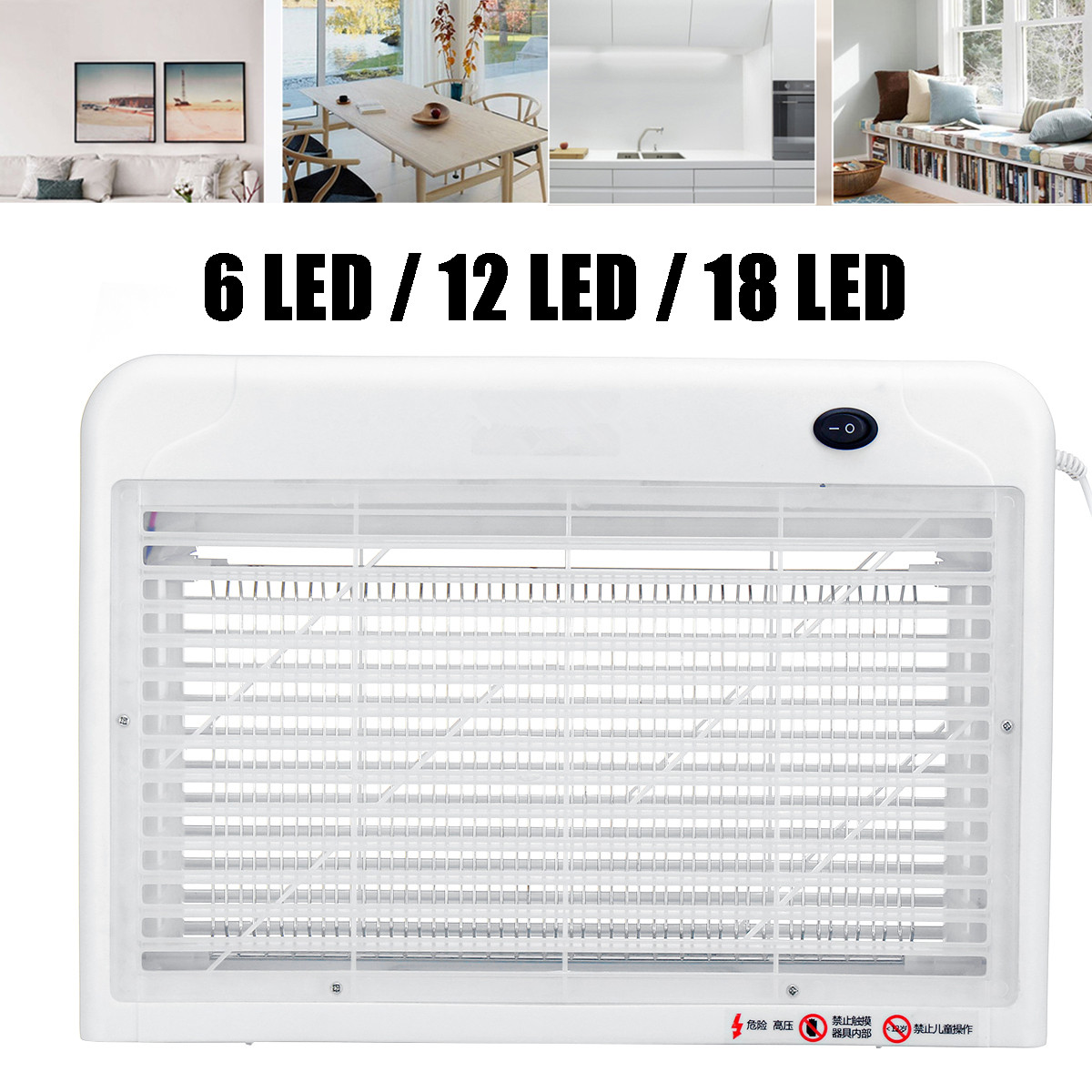LED Electric Socket Mosquito Killer Lamps Mosquito Fly Killer Zapper Bug Insect Physical Trap Night Light Home Kids Room Outdoor