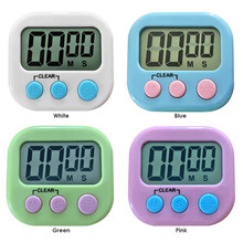 Magnétique LCD Écran Électronique Minuterie De Cuisson Tableau D'affichage Numérique Compte À Rebours Réveil Chronomètre Avec Support pour la Cuisine
