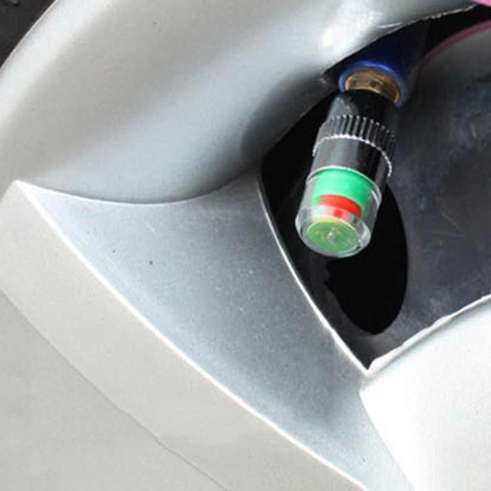 4 個 2.4Bar 36PSI 空気警告タイヤバルブキャップセンサーモニターライトキャップインジケータ車アクセサリー