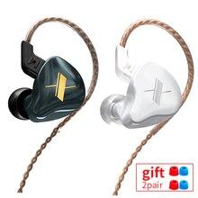 Kz edx 1dd alta fidelidade no fone de ouvido monitor fones de ouvido no esporte com cancelamento ruído fone de ouvido kz zsx zs10 pro zsn zsn