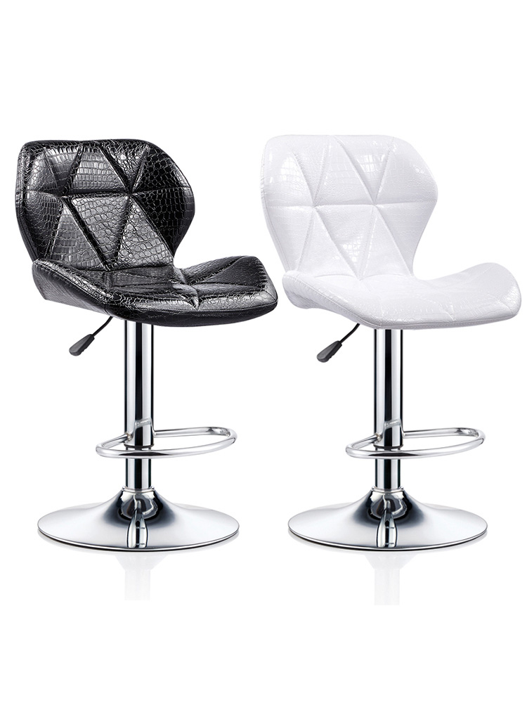 Bar Chair, Backrest Lifting, Modern Simple   High Stool,   Household Beauty  Swivel Chair