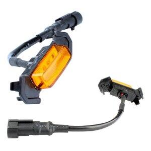 Image 3 - 4PCS 앰버 연기 렌즈 앰버 LED 프론트 그릴 라이트 어셈블리 (배선 하네스 키트 포함) 2016 up Toyota Tacoma w/TRD Pro Grill