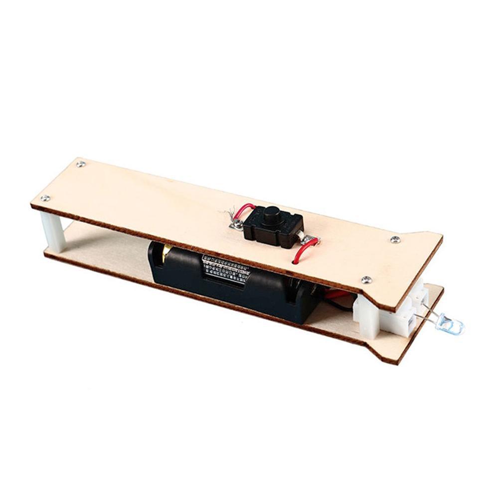 Kids DIY Flashlight Wooden Toys Kit Multi-function Educational Physics Science Good Material Flexibility Assemble Craft