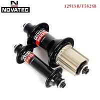Novatec A291SB road bike hubs parts F482SB/ F582SB Bicicleta accessories 20H 24 Holes V Brake 9/10/11s QR bicycle Bearing hubs