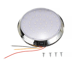 Mayitr 1pc 46LED Auto Ceiling Cabin Lights DC12V 5W Car Caravan Van Trailer Interior Reading Lamp For Campervans Buses Boats(China)