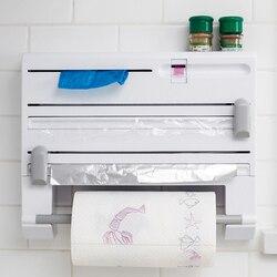 Nowy Organizer do kuchni folia spożywcza butelka na sos stojak do przechowywania folia aluminiowa uchwyt na ręcznik papierowy półka kuchenna folia plastikowa do cięcia