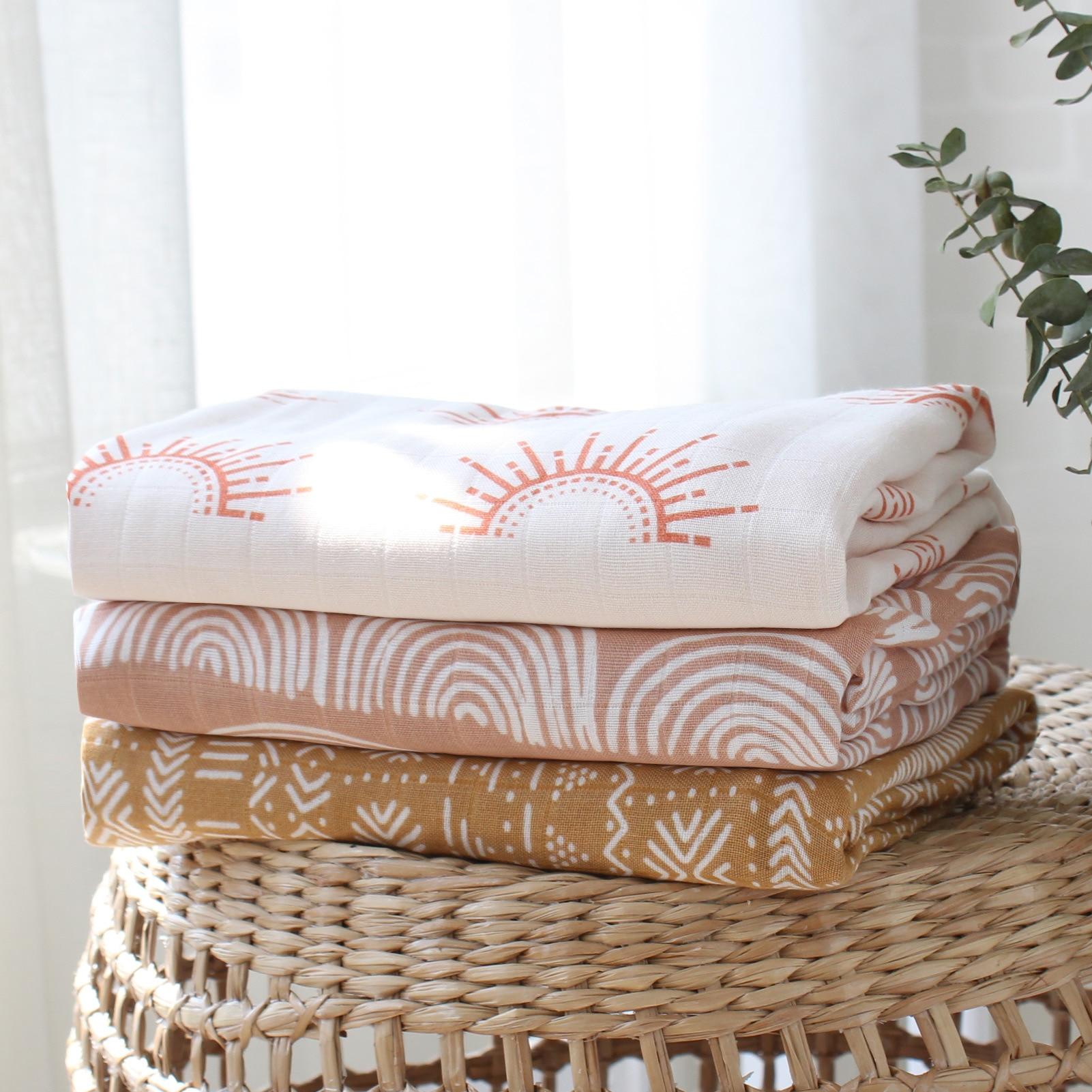 Bambus Baumwolle Weiche Baby Decken Neugeborenen Musselin Swaddle Decke für Neugeborene Mädchen und Jungen Baby Bad Handtuch