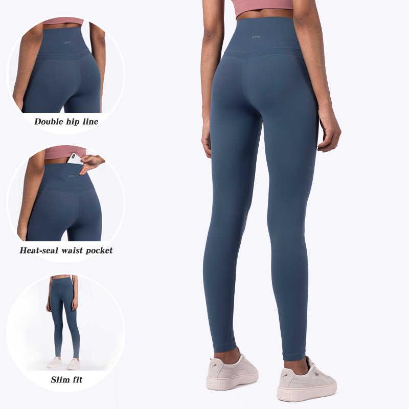 Liền Mạch Tập Gym Quần Legging Có Túi Thể Thao Nữ Tập Thể Dục Quần Áo Chạy Tập Yoga Đẩy Lên Cao Cấp Quần Legging Thể Thao