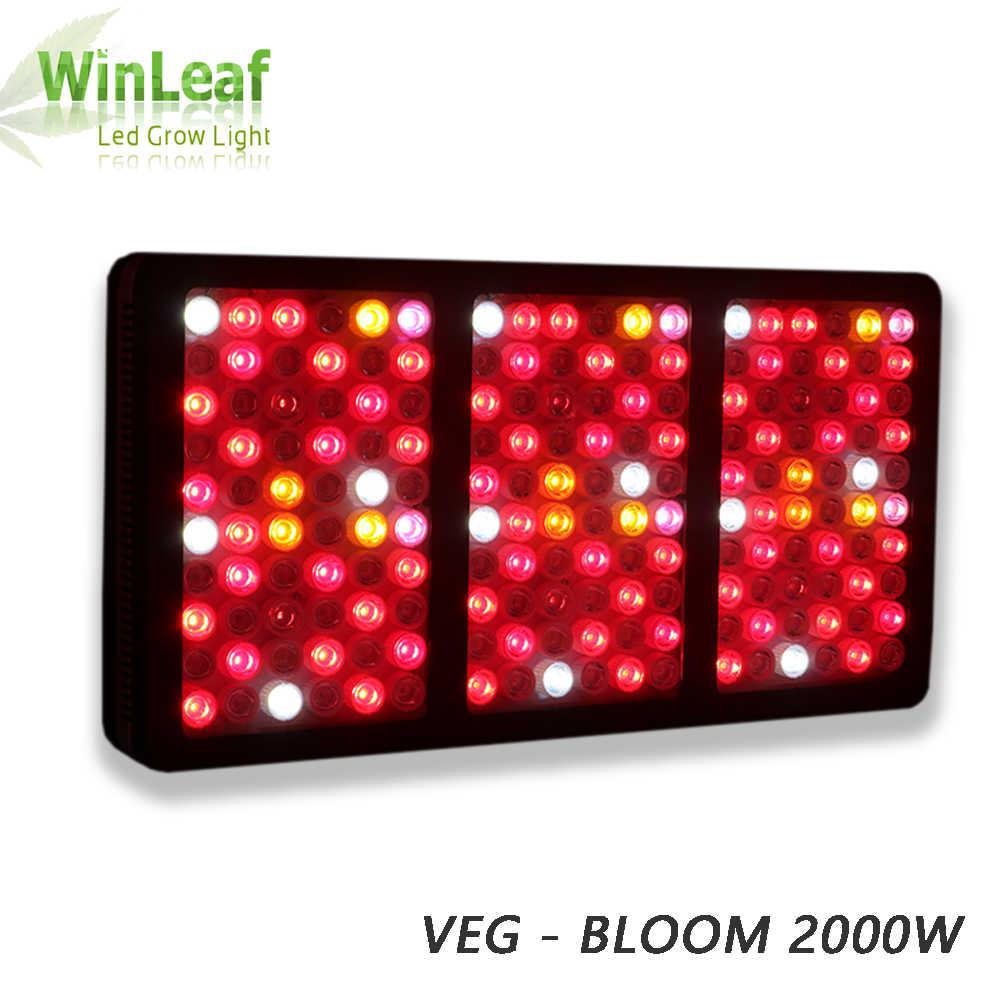 Светодиодный светильник Gorw для растений полный спектр 600 Вт 1200 Вт 2000 Вт для внутреннего парниковый эффект; Выращивание растений без почвы семян и цветения растений свет растут светодиодный