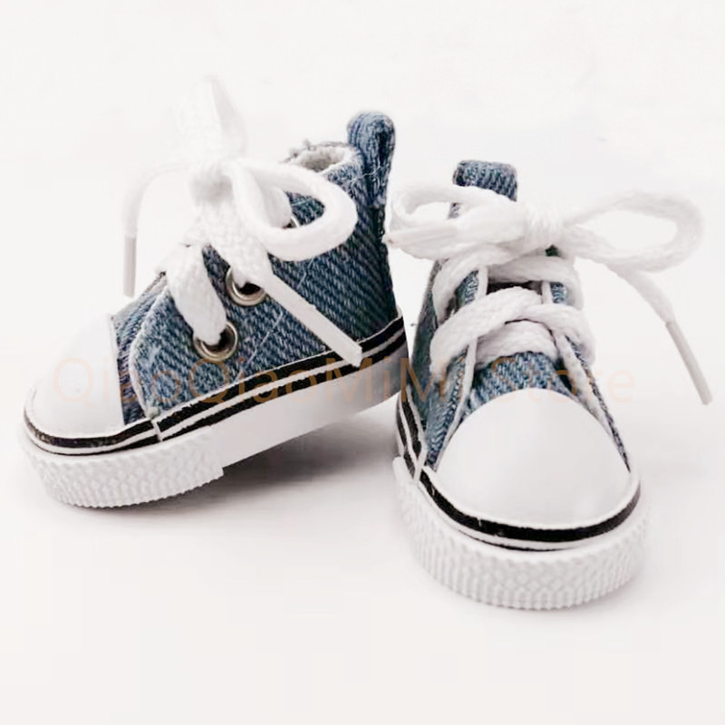 Purple Round Toe High-top Canvas Sneakers Shoes for 1//6 BJD Doll Clothes