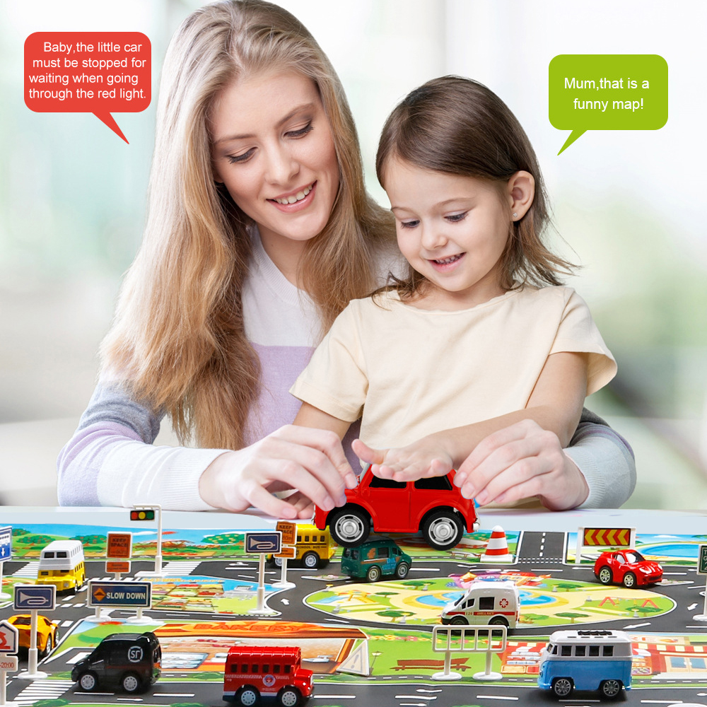 130x100 CM Large Playground Scene Simulation Play Mat City Traffic Parking Area Traffic Rules Maps Pads For Kids Learning Toys   Happy Baby Mama