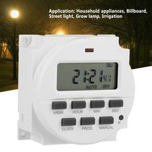 цена на TM618sH-5V 24 hours 7 Days Weekly Programmable LCD Timer Switch Time Relay Built-in Rechargeable Battery