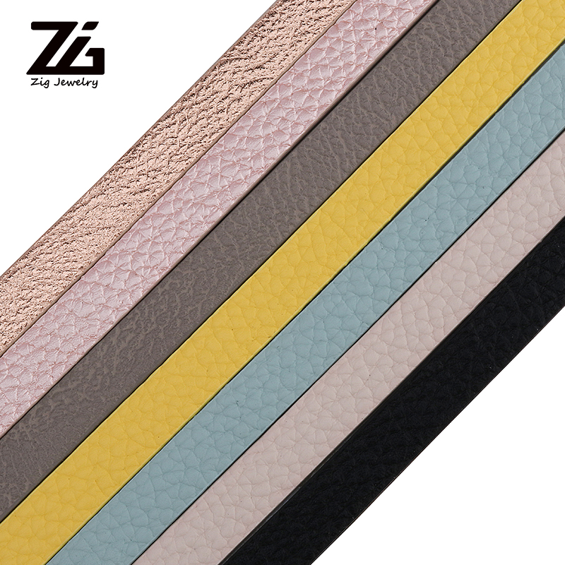 ZG 10mm Flat PU Leather Cord/Little Dot Leather Rope/Jewelry Findings Accessories/Fashion Jewelry Making/Bracelet Materials