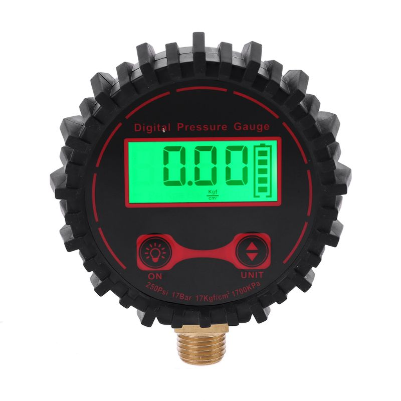 """0 250 PSI Digital Tire Pressure Guage 1/4"""" with Flashlight for Car Truck Vehicle Bicycle Motorcycle Tyre Inflator Gauge