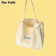 Cotton Canvas Bags Tote Letters For Women Cotton Cloth Shoulder Bag Embroidery Letters High Capacity Accept Shopping Canvas Bags все цены