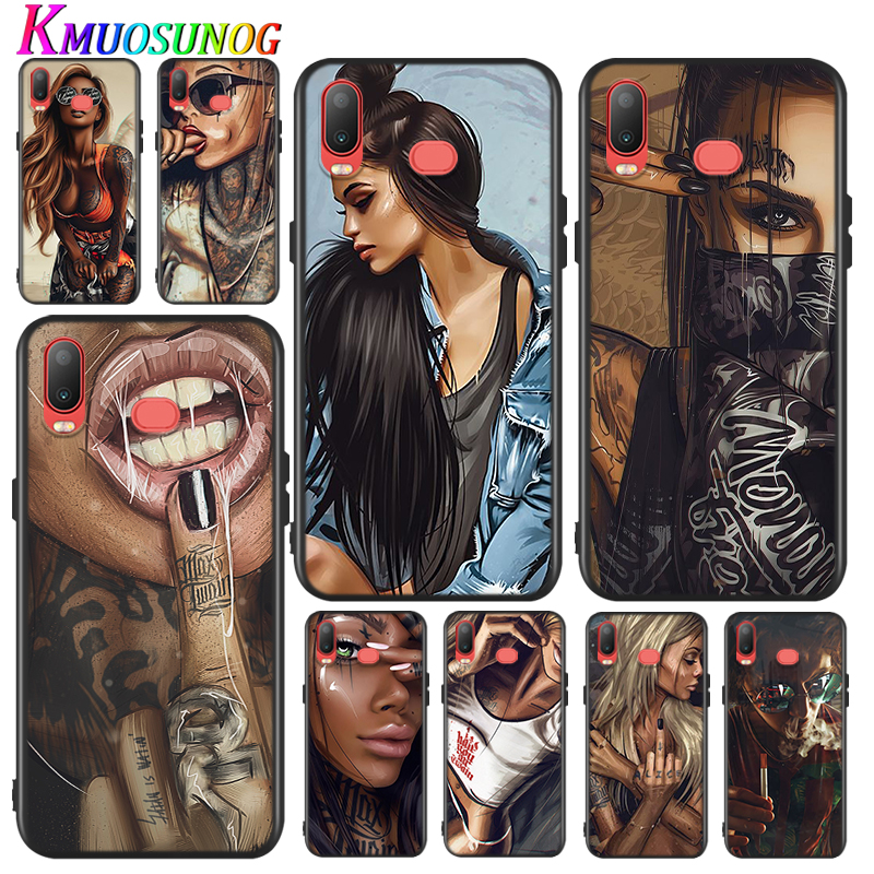 Silicone Cover Sexy Sleeve Tattoo Girl for Samsung Galaxy A9 A8 A7 A6 A6S A8S Plus A5 A3 Star 2018 2017 2016 Phone Case