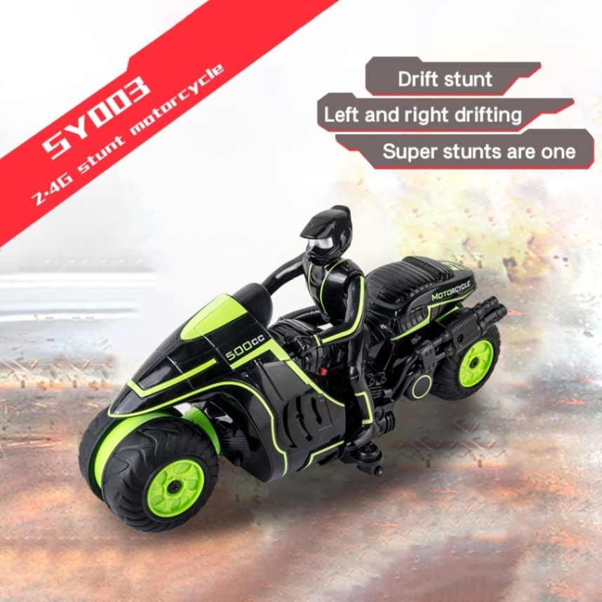 SY003 1/18 RC Motorcycle 2.4G Radio Control 10km/h High Speed Drift Waterproof Amphibious Motorcycle Birthday Gift for Kid