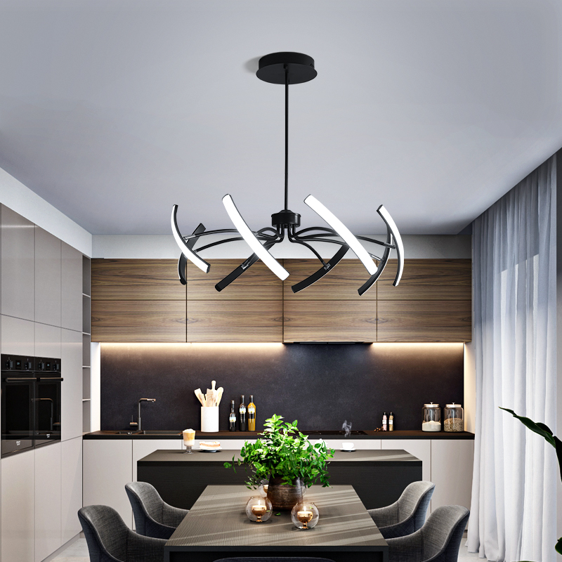 MDWELL Matte Black White Finished Modern Led Ceiling Lights for living room bedroom study room Adjustable MDWELL Matte Black/White Finished Modern Led Ceiling Lights for living room bedroom study room Adjustable New Led Ceiling Lamp