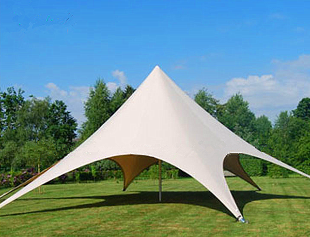 10m diameter Trade Show Single Top Star Shape Wedding Outdoor Display Gathering Party Event PVC and Aluminum Tension Fly Tent