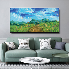 Abstract Landscape Posters and Prints Wall Art Canvas Painting Nature Scenery Oil Painting Pictures for Living Room Decoration laeacco nordic oil painting abstract forest landscape canvas posters and prints wall art canvas painting modern room decoration