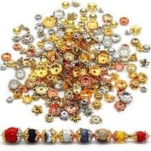 200/400 шт шапочки для бисера ccb размер золотой серебряный