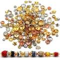 200/400 шт., шапочки для бисера, CCB, размер, золотой, серебряный, CCB, шапочки, подвески для ювелирных изделий, фурнитура, Цветочные бусины, концевые...