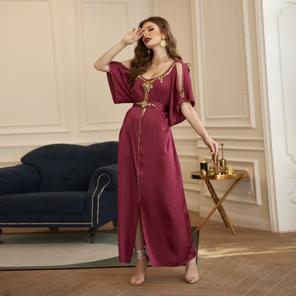 Абайя Дубай, Турция, арабский хиджаб мусульманское платье ислам одежда Вечерние платья абайя для женщин халат Femme Longue Musulman De Mode