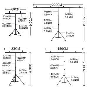 Image 2 - Fotografie Foto Studio T Vorm Achtergrond Stand Frame Ondersteuning Systeem Kit Voor Video Chroma Key Groen Scherm Met stand