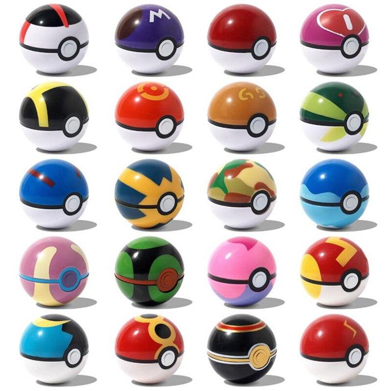 Nouveauté multicolore 7CM balle elfe pour animaux de compagnie Pokemones pokeball avec 2-3cm figurines jouets peuvent rêver chambre meubles pour les enfants