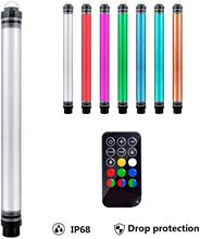 RGB LED Video Light Wand Photography Portable Handheld Tube Light,12 Lighting Mode,Stepless Dimming,7 Colors Temperatures IP68