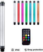 RGB LED Video Light Wand Photography Portable Handheld Light,12 Lighting Mode,Stepless Dimming,7 Colors Temperatures,IP68
