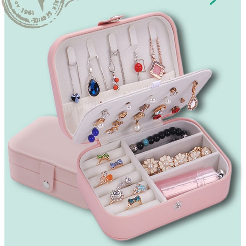 2 Color Fashion Women Jewelry Case Simple Trend Earrings Bracelet Ring Jewerly Storage