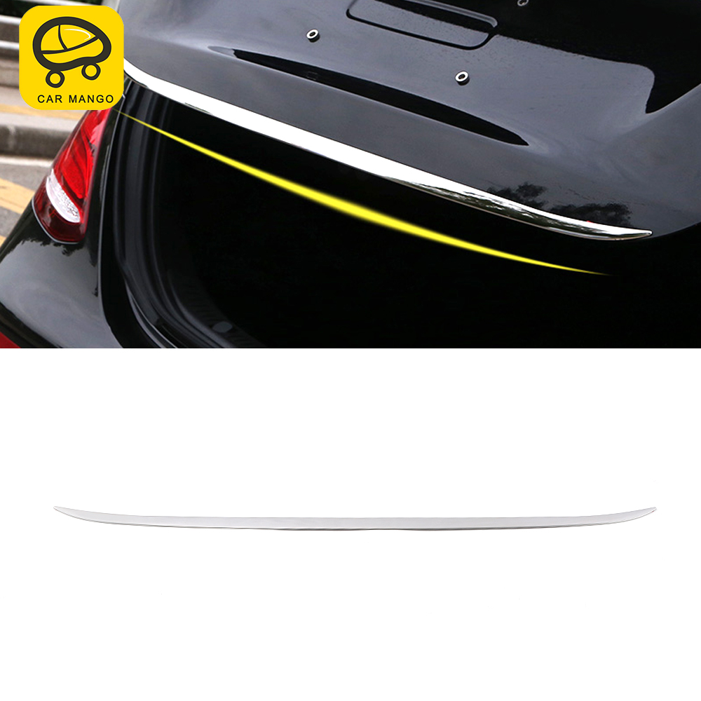 CARMANGO Car <font><b>Accessories</b></font> Rear Trunk Door Chrome Trim Sticker Cover Frame Decoration for <font><b>Mercedes</b></font>-<font><b>Benz</b></font> E-Class <font><b>W213</b></font> 2016-2020 image