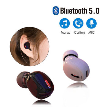 Mini Wireless Bluetooth 5.0 Earphone in Ear Sport with Mic Handsfree Headset Earbuds For All Phone For Samsung Huawei Earphones image